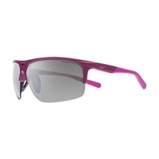 Nike EV0800-538 Run X2 Sunglasses Bright Magenta Red Violet Frame Silver Flash - Violet Red