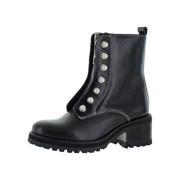 e80c25cd3f8 Shop Steve Madden Womens Granite Motorcycle Boots Leather Ankle ...
