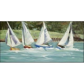 Carolines Treasures JMK1302HRM2858 Sailboats On The Bay Indoor & Outdoor Runner Mat 28 x 58 in.