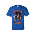 Men's T-Shirt American Liberty USA Flag Feathers Skull Native Chief Freedom Tee - Thumbnail 6