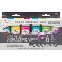 Testors Craft Acrylic Paint Set 6/Pkg-Vacation Days Matte
