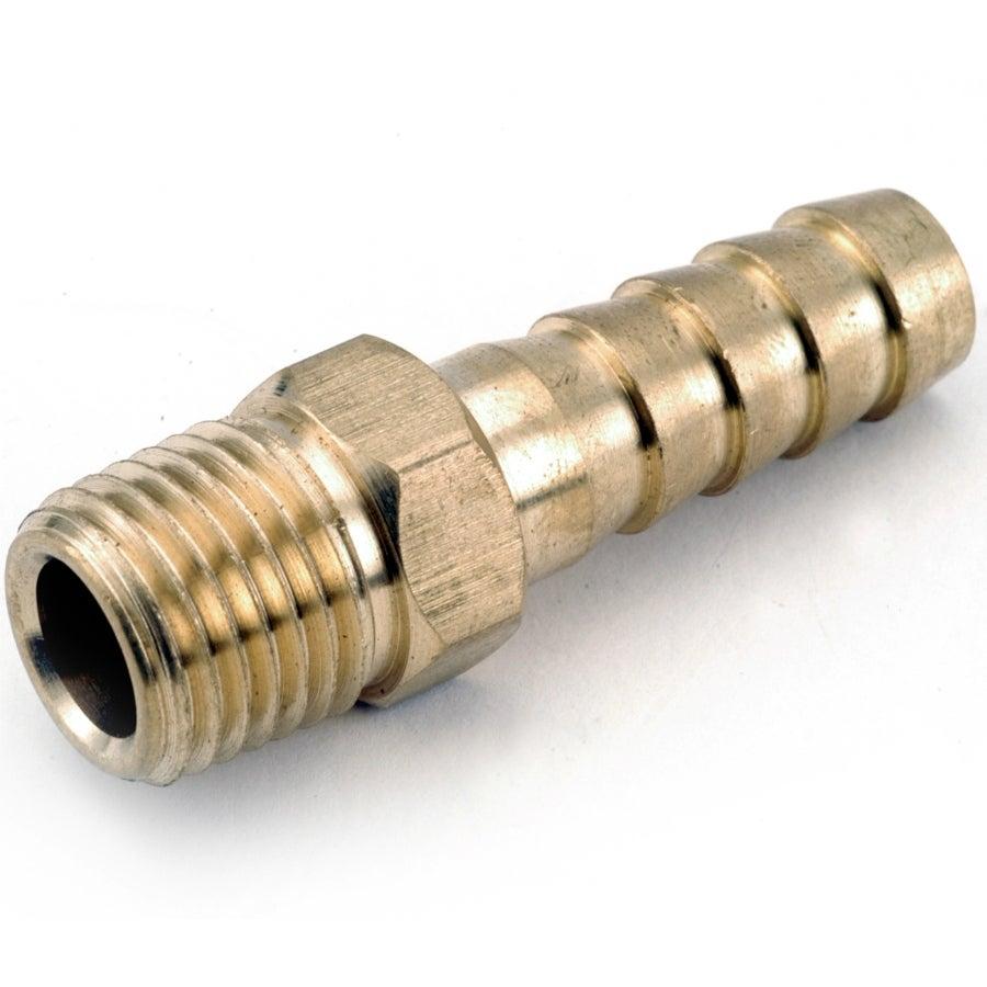 Anderson Metals 717001-0402 Lead Free Barb Insert, Brass, 1/4 x 1/8 MPT