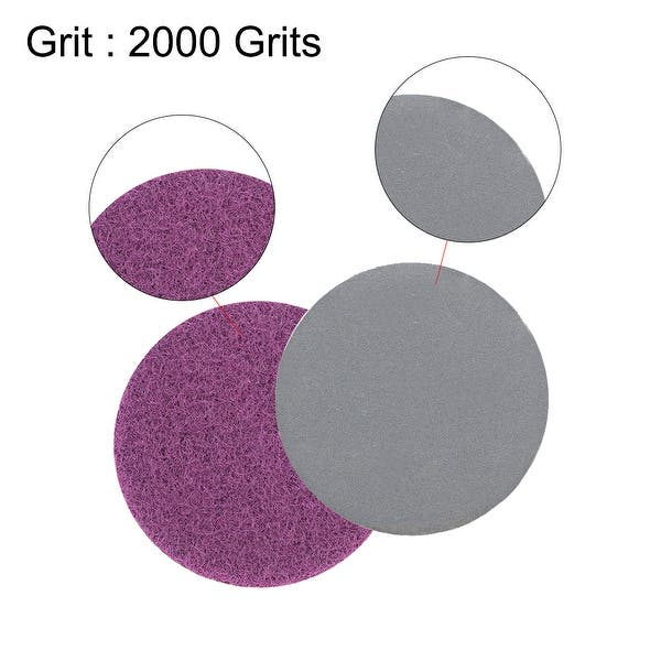 Dry Silicon Carbide 2000 Grit 100 Pcs 1-Inch Hook and Loop Sanding Disc Wet