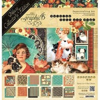 """Graphic 45 Deluxe Collector's Edition Pack 12""""X12""""-Raining Cats & Dogs"""