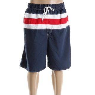 Newport Blue Mens Big & Tall Bandera Striped Swim Trunks - 3xlt