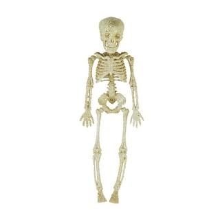 """11.5"""" Silver Glitter Skeleton"""