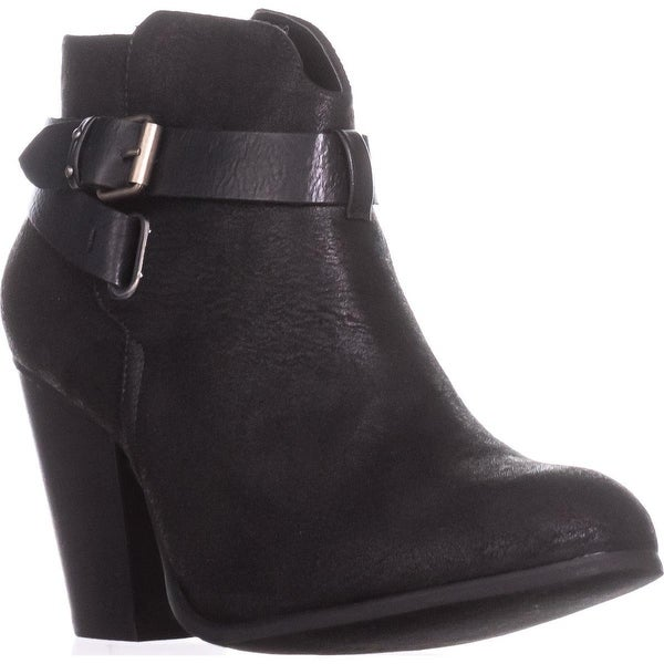 XOXO Katniss Block-Heel Cross Strap Booties, Black