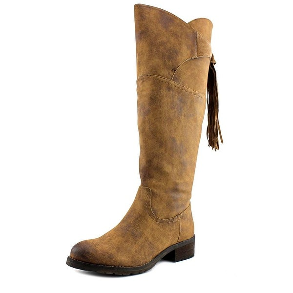 Very Volatile Geneva Women Round Toe Synthetic Tan Knee High Boot
