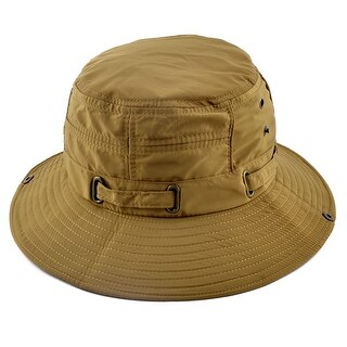 Fisherman Cotton Blends Sports Wide Brim Summer Cap Fishing Hat Olive Yellow