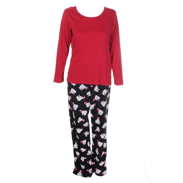 ec3d211433 Shop Charter Club Red Black Polar Printed Pajama Set M - Free ...