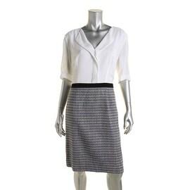 BOSS Hugo Boss Womens Dalemi Colorblock Knee-Length Wear to Work Dress - 12