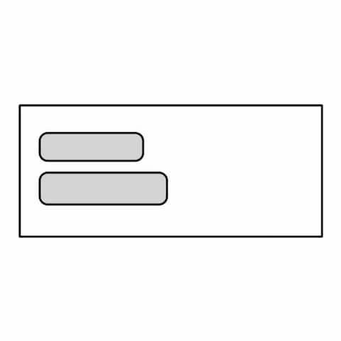 "#10 DG-1NT Double Poly Window Envelopes, 4-1/8"" x 9-1/2"", 24# White, No Tint Double Lookins (DG-1NT) (Box of 500)"