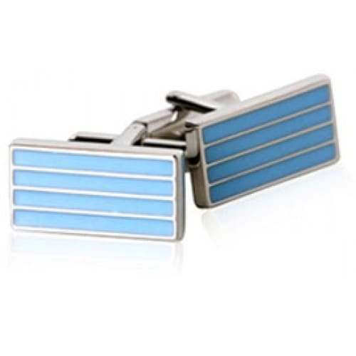 Baby Blue Bar Design Cufflinks