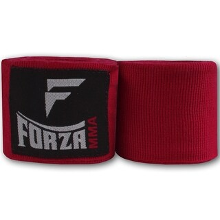 "Forza Sports 120"" Mexican Style Boxing and MMA Handwraps - Red"