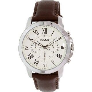 Fossil Men's Grant Brown Leather Quartz Fashion Watch