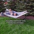 Sunnydaze 2-Person Quilted Hammock with Spreader Bars and Detachable Pillow - Thumbnail 18