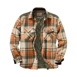 Legendary Whitetails Men's Woodsman Quilted Plaid Shirt Jacket