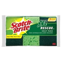 Scotch-Brite 300 Rescue Soap Pads, Pack 3