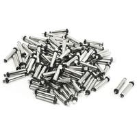 Unique Bargains 100 PCS DC Power Jack Solder Male Plug Connector 3.5mmx1.35mm Type 0.79  Long