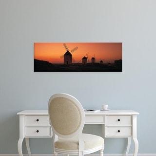 Easy Art Prints Panoramic Images's 'Windmills La Mancha Spain' Premium Canvas Art