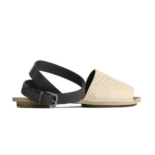 Brunello Cucinelli Womens Nude Leather Python Embossed Sandals