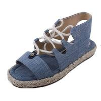 Michael Kors Womens Mckenna Cotton Open Toe Casual Espadrille Sandals