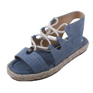 Michael Kors Womens Mckenna Cotton Open Toe Casual Espadrille Sandals (More options available)