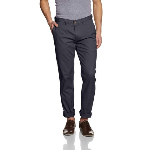 Ben Sherman Mens Gray 32X32 Slim Straight Khakis Chinos Stretch Pants