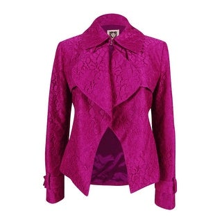 Anne Klein Women's Lace Draped Front Blazer