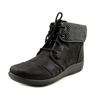 Clarks Sillian Frey Round Toe Canvas Ankle Boot