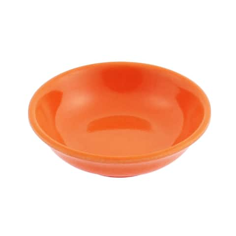 Unique Bargains Round Shape Soy Sauce Dipping Sushi Mini Dish Plate Orange