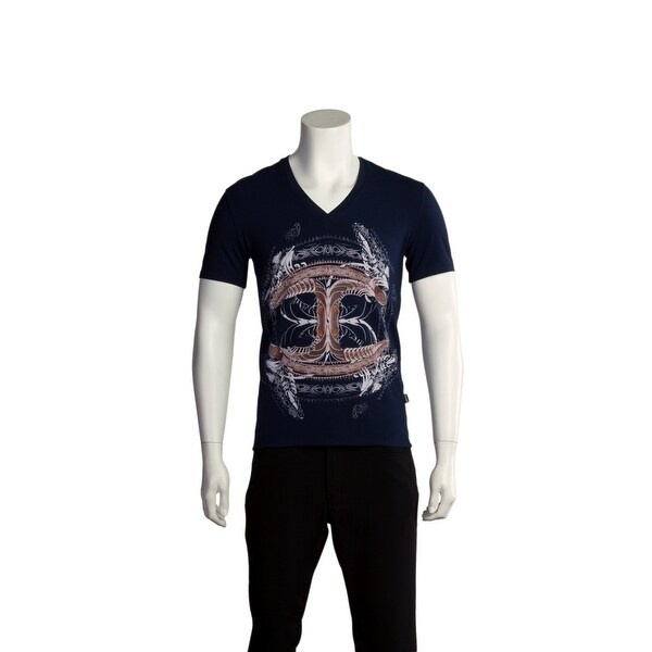 9c0c9a343124 Shop Just Cavalli Men Cultured T-Shirt Dark Navy - Free Shipping Today -  Overstock - 13478401