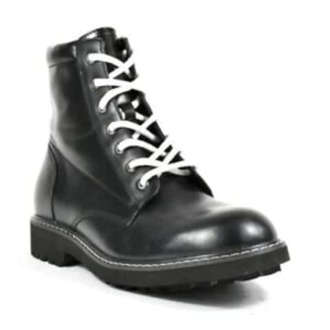 INC International Concepts Mens Ivan Lace-up Boot Leather Round Toe Ankle Mot... - 9