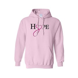 "Unisex Pullover Hoodie ""Hope & Love"" Breast Cancer Awareness"