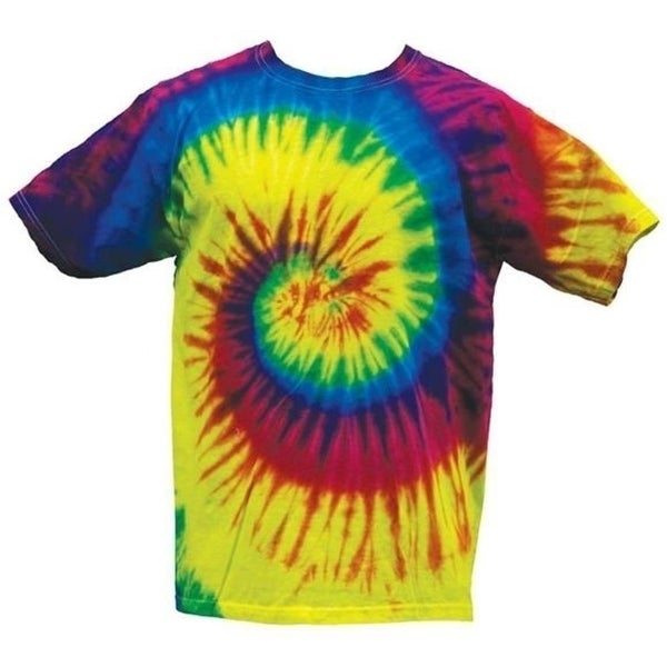 94acf06992d Shop BRIGHT RAINBOW TYE DYED TEE SHIRT unisex SIZE MED hippie tie dye SWIRL  106 - Free Shipping On Orders Over  45 - Overstock - 27157679