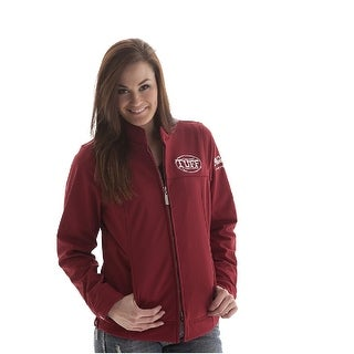 Cowgirl Tuff Western Jacket Womens Microfiber Never Give Up Red JKT004
