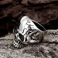 Vienna Jewelry Stainless Steel Cracked Skull Ring - Thumbnail 2