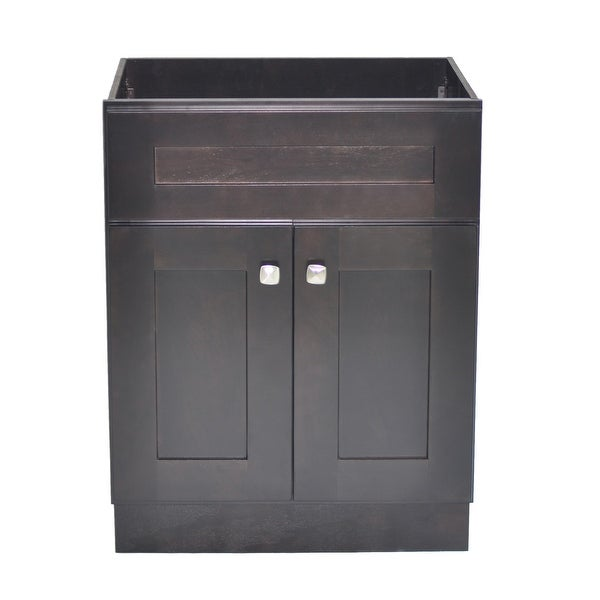 """Design House 559047 Brookings 24"""" Single Free Standing Wood Vanity Cabinet Only - Espresso"""