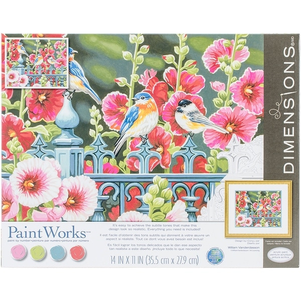 "Paint Works Paint By Number Kit 14""X11""-Hollyhock Gate"