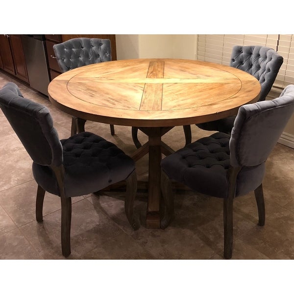 Superb Shop Benchwright Rustic X Base 48 Inch Round Dining Table Download Free Architecture Designs Aeocymadebymaigaardcom