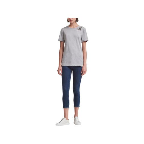 DKNY Womens T-Shirt Short Sleeve Crew Neck