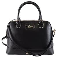 Kate Spade Black Leather Small Rachelle WELLESLEY Convertible Satchel Purse