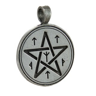 Christopher Penczak Rune Pentacle Spell Charm For Protection Pendant - Silver