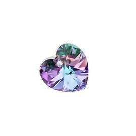 Swarovski Elements Crystal, 6228 Heart Pendant 18mm, 1 Piece, Vitrail Light