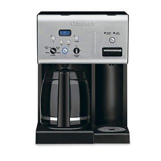 Cuisinart CHW-12FR Coffee Plus 12-Cup Programmable Coffeemaker with Hot Water System, Black/Stainless, Certified Refurbished