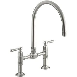 Kohler k-7337-4  HiRise Double Handle Bridge Kitchen Faucet with Metal Lever Handles