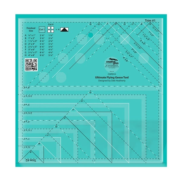 """Creative Grids Ultimate Flying Geese Tool - 0.25"""" x 8"""" x 8"""". Opens flyout."""