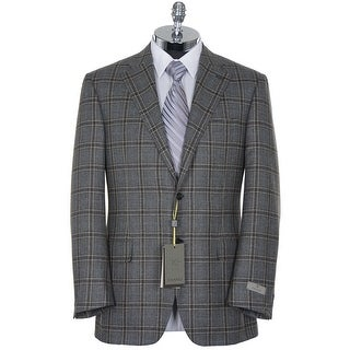 Canali Exclusive Cashmere and Silk Gray Plaid Sportcoat 42 Regular 42R