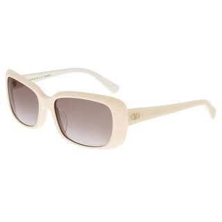Valentino V619S 103  Ivory Rectangle Sunglasses - 55-17-135