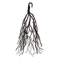 Pack of 2 Brown Decorative Hanging Tree with Orange Lights and Timer 22""